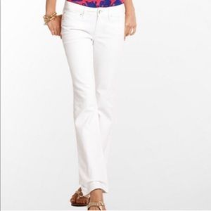 Lilly Pulitzer  |  White Babe Boot Cut Jeans